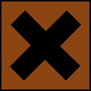 free vector Hazard X Bronze clip art
