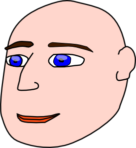 free vector Head Man Bald clip art
