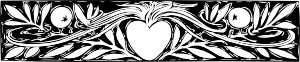 free vector Heart And Branches Border clip art