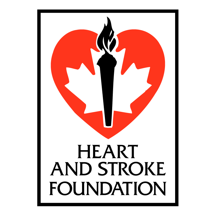 free vector Heart and stroke foundation