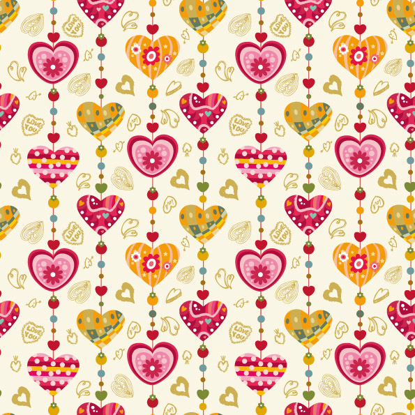 heart background vector cute pursuit free vector 4vector