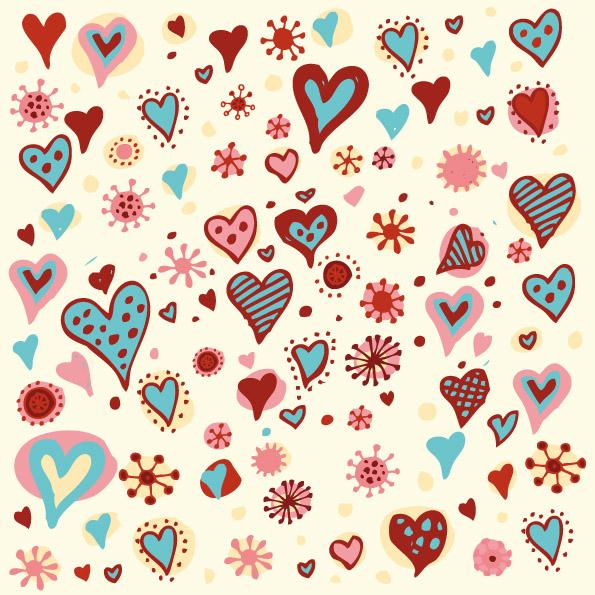 cute heart pattern wallpaper - photo #13