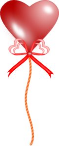 free vector Heart Balloon clip art