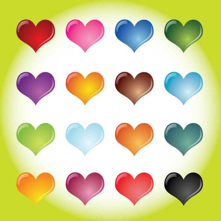 free vector Heart Collection