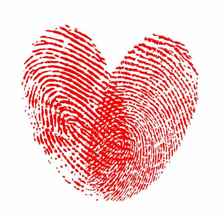 free vector Heart fingerprint