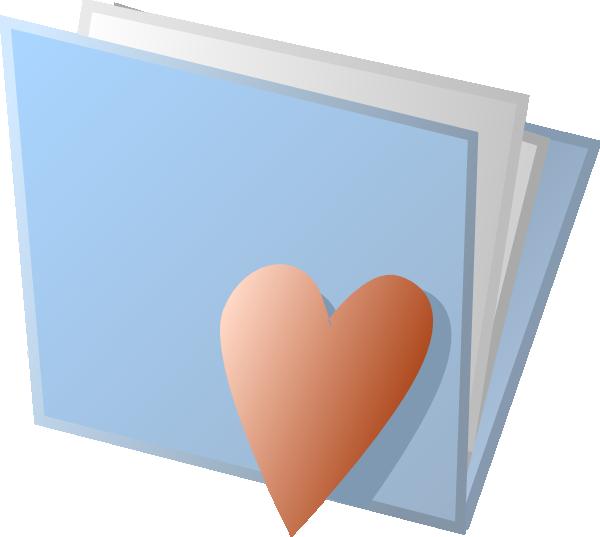 free vector Heart Folder clip art