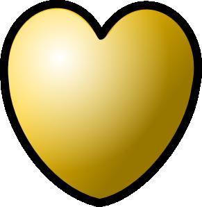 free vector Heart Gold Theme clip art