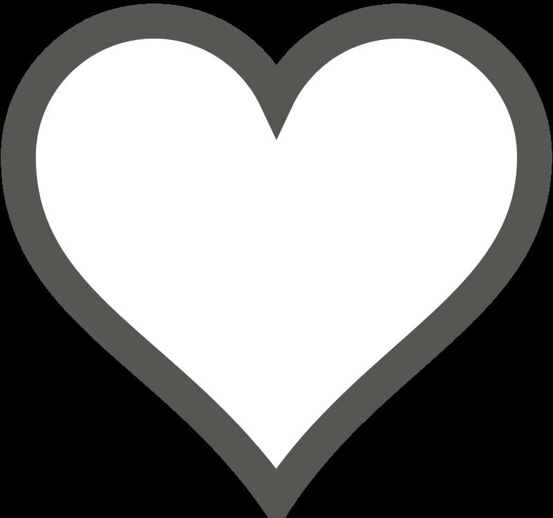 free vector Heart Icon (Deselected)