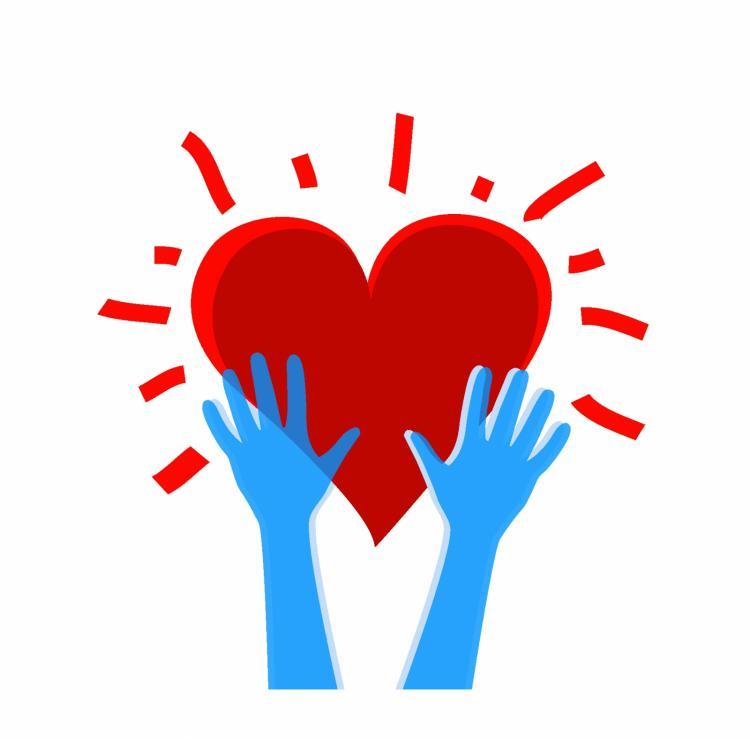 free vector Heart in hands