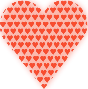 free vector Heart In Heart Light Red clip art