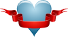 free vector Heart Ribbon clip art