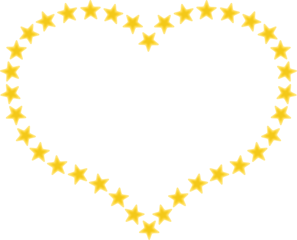 free vector Heart Shaped Border With Yellow Stars clip art