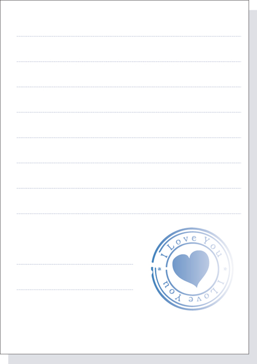 free vector Heart-shaped seal material vector