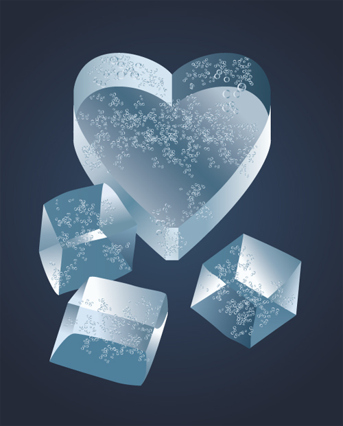 free vector Heart-shaped vector-related material