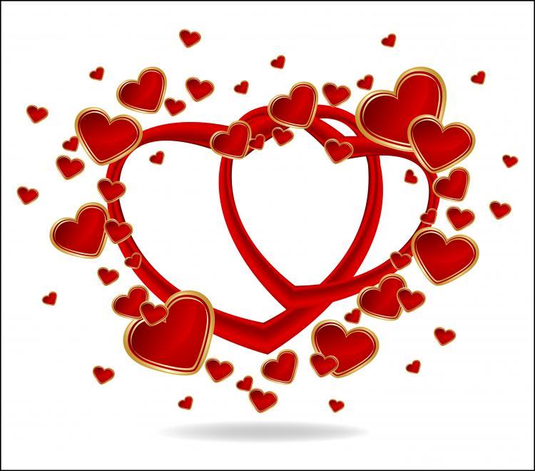 free vector Heart to heart vector