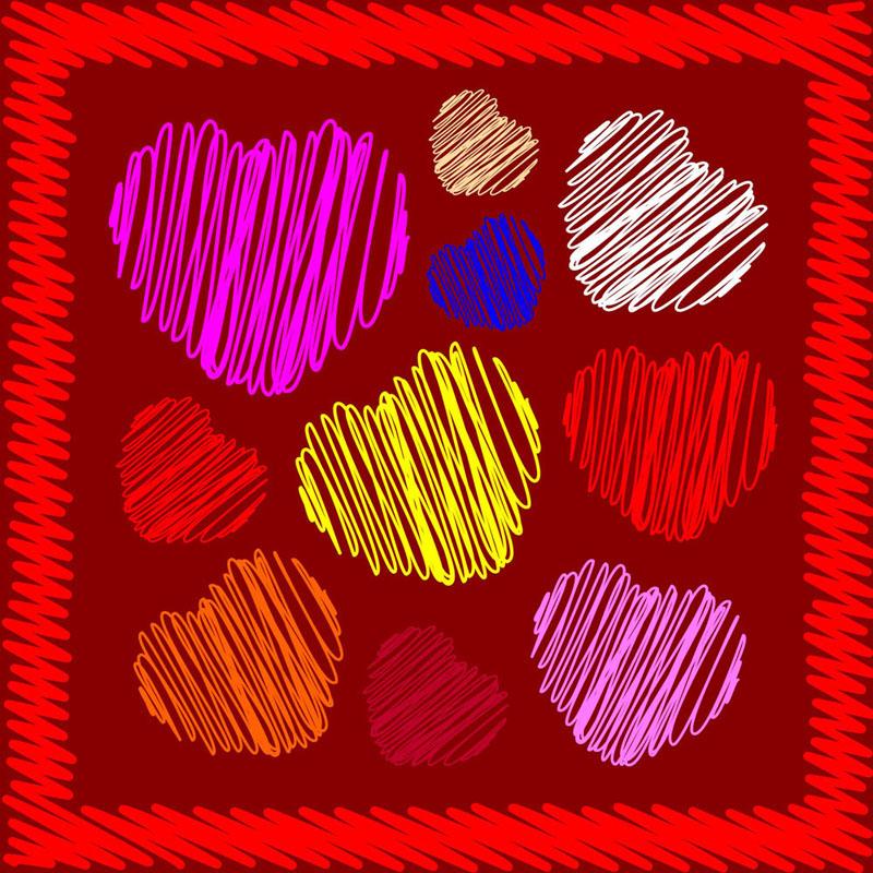 free vector Heartshaped pattern vector 24116
