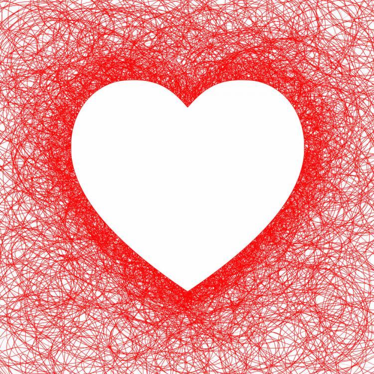 free vector Heartshaped red line vector
