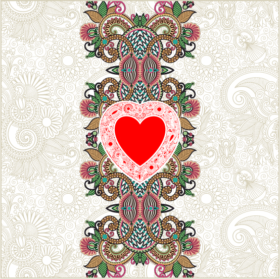 free vector Heartshaped valentine39s day card 03 vector