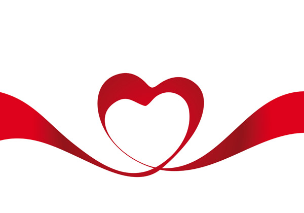 free vector Heartshaped vector ribbon