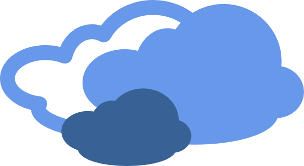 free vector Heavy Clouds Weather Symbol clip art