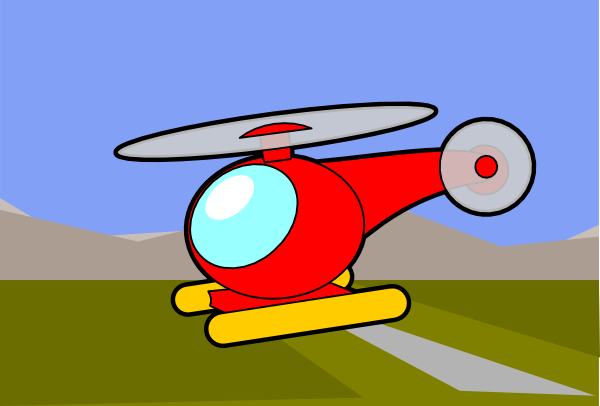 free vector Helicopter Chopper clip art