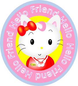 free vector Hello Friend Cat clip art
