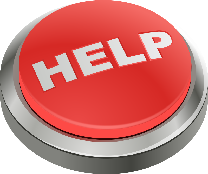 free vector Help button