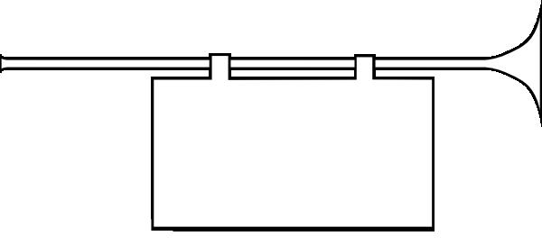 free vector Herald Trumpet Frame clip art