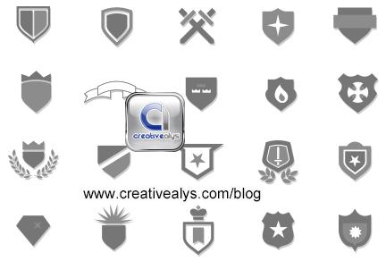 free vector Heraldic Crests for Logo Design