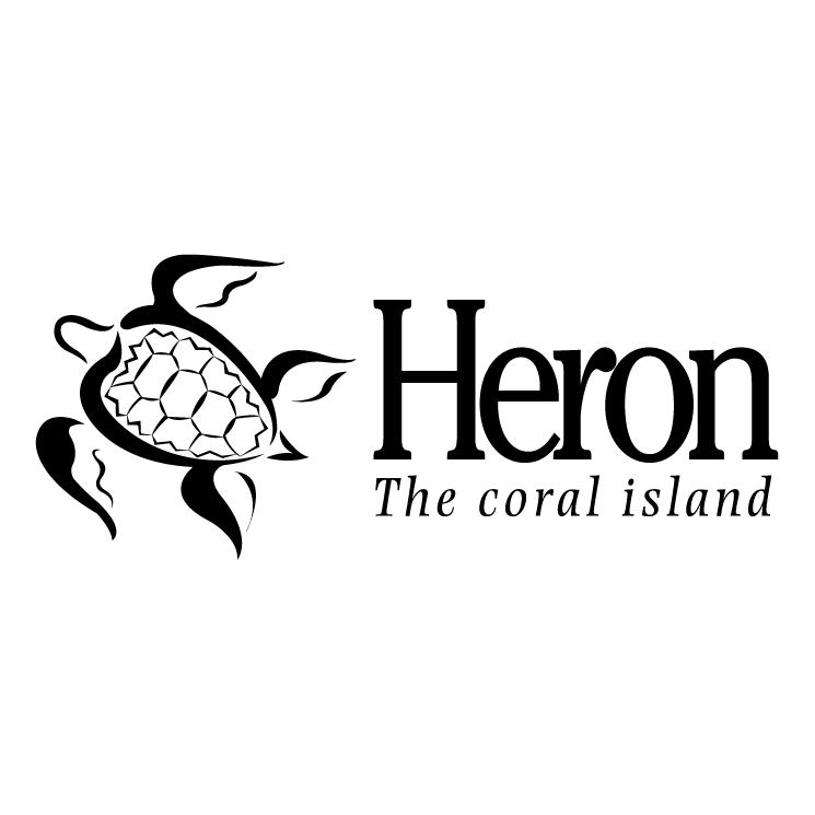 free vector Heron the coral island