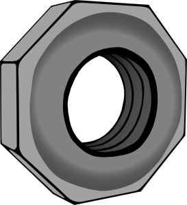 nut clipart black and white. free vector hex nut clip art clipart black and white
