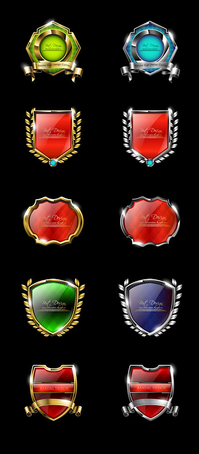 free vector High quality badge vector 2