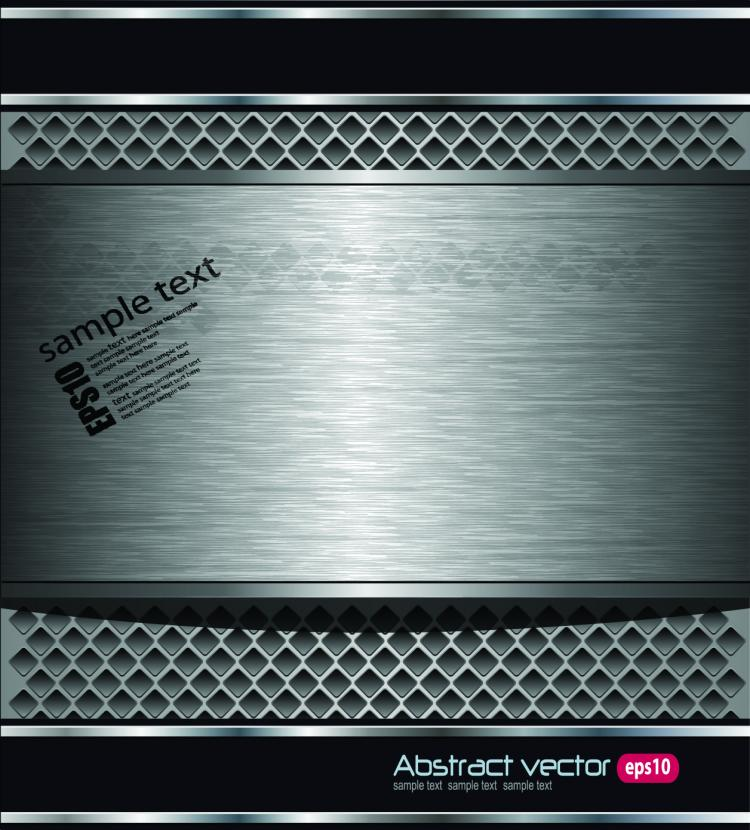 free vector High quality metal background 02 vector