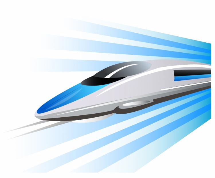 free vector High-speed train on hovercraft