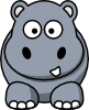 free vector Hippo clip art