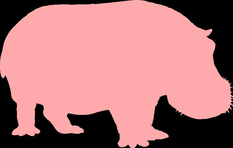 free vector Hippo Silhouette
