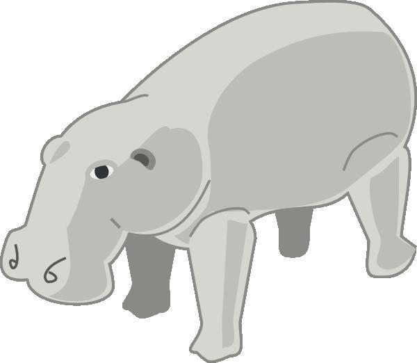 free vector Hippopotamus clip art