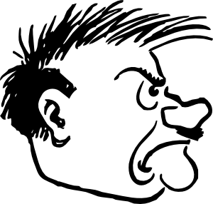 free vector Hitler Side View clip art