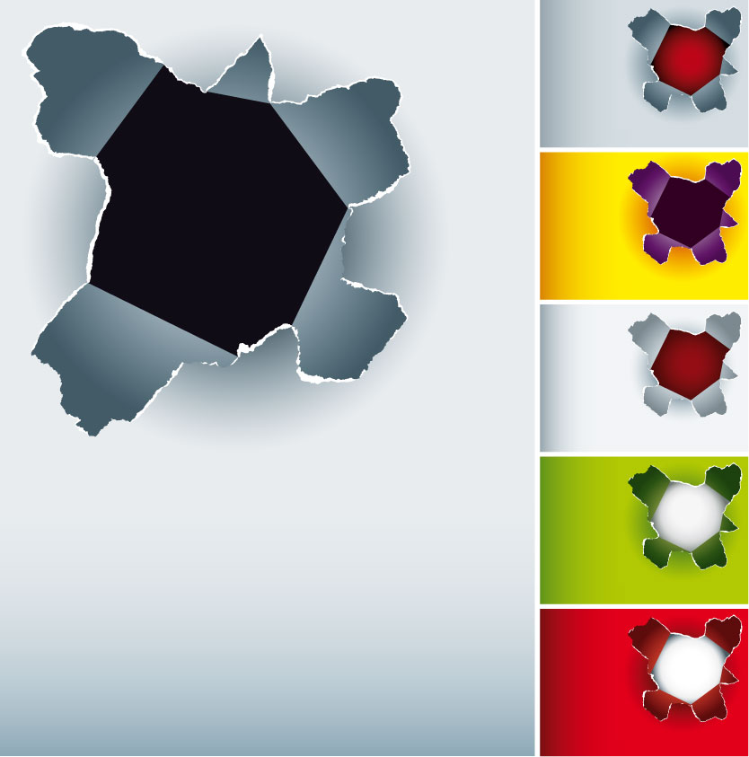 free vector Hole in the paper vector