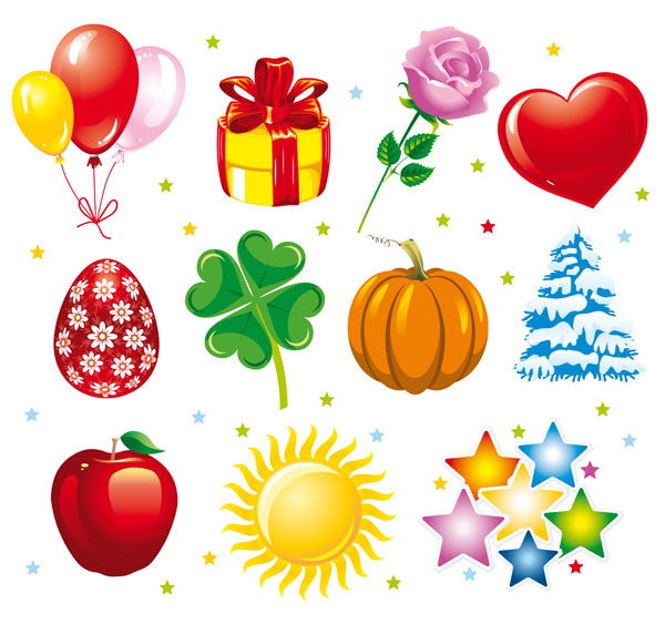 Holiday graphics vector Free Vector / 4Vector
