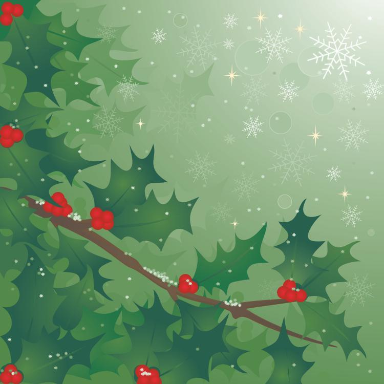 free vector Holly tree vector