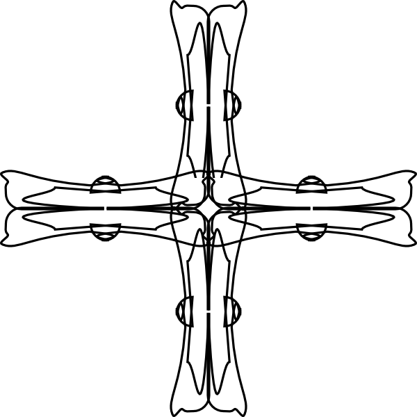 free vector Holy Greek Cross Outline clip art