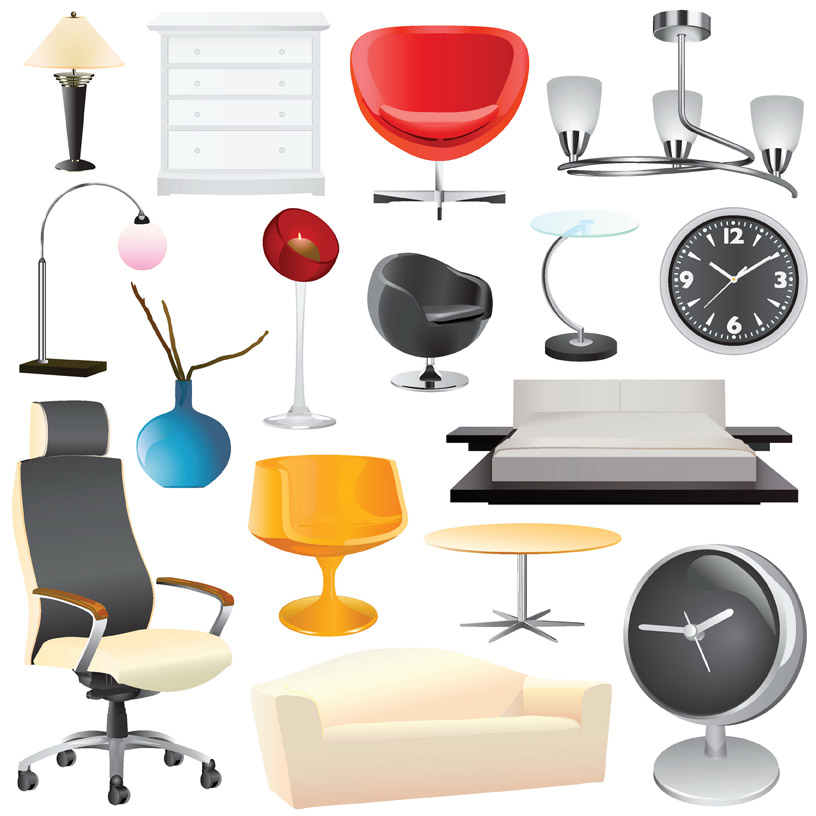 Home decoration vector free vector 4vector Home decoration vector free