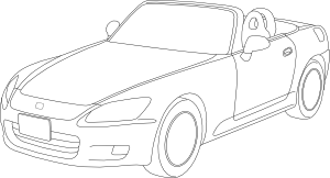 free vector Honda S Outline clip art