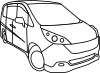 free vector Honda Step Wagon clip art
