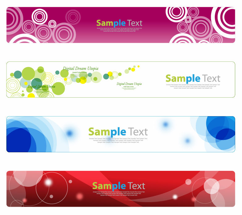 free vector Horizontal Banner Set for Web