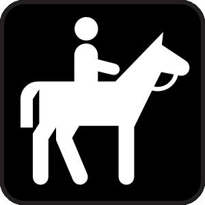 free vector Horse Back Riding clip art