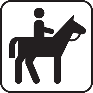 free vector Horse Back Riding clip art