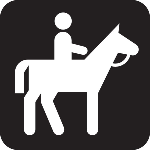 free vector Horse Back Riding Rental Guided Tour Black clip art