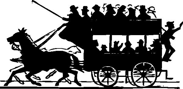 free vector Horse Drawn Doubledecker clip art